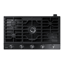 "See Details - 36"" Gas Cooktop with 22 K BTU Dual Burner, NA36N7755TG/AA (Black Stainless)"