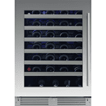 24in Wine Cellar 1 Zone SS Glass LH