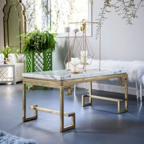 A & B Home - Marble Coffee Table