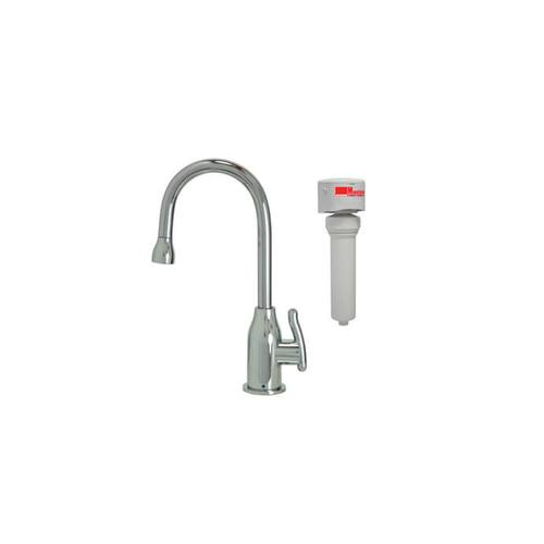 Mountain Plumbing - Point-of-Use Drinking Faucet with Modern Curved Body & Handle & Mountain Pure® Water Filtration System - Satin Brass