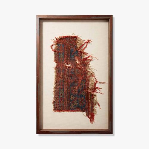 0350820020 Vintage Rug Fragment Wall Art