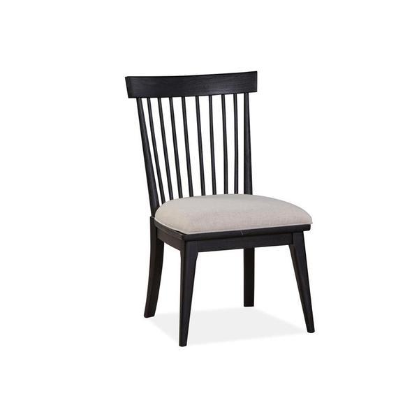 Dining Side Chair w/Uph.Seat&Wood WindsorBack(2/ctn)