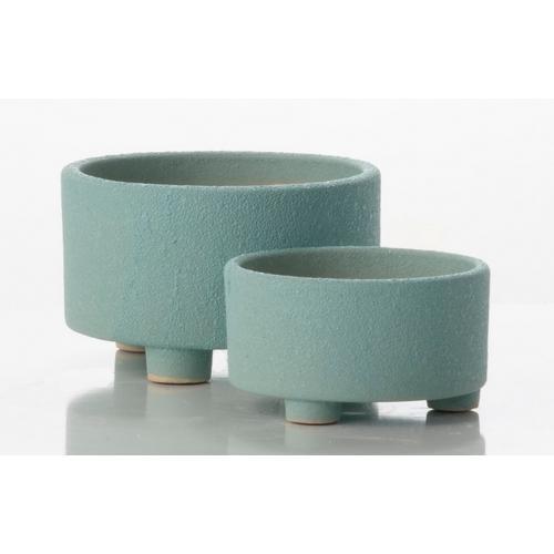 Lava Textured Petits Pots - Blue (set of 2)