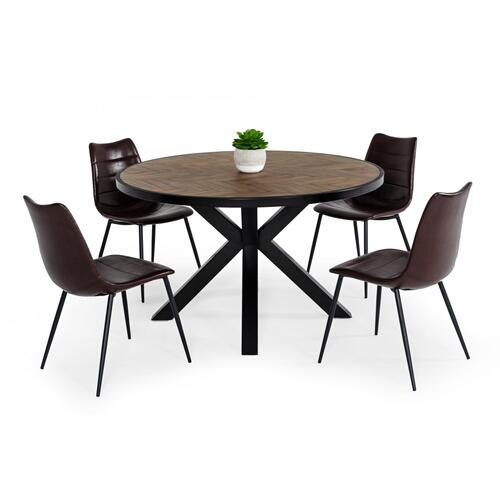 Modrest Pasada - Industrial Brown Acacia Dining Table