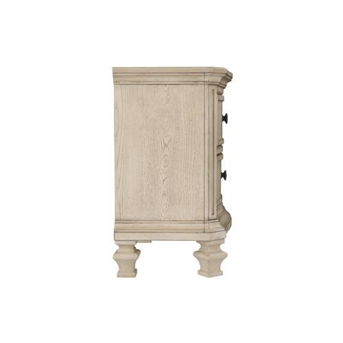Demarlos Two Drawer Night Stand Parchment White