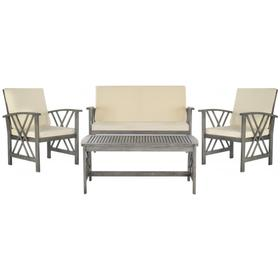 Fontana 4 PC Outdoor Set - Grey Wash / Beige