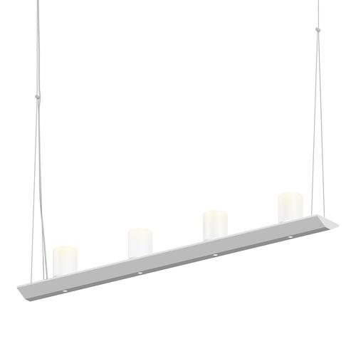 "Sonneman - A Way of Light - Votives LED Bar Pendant [Size=3', Color/Finish=Bright Satin Aluminum, Shade Size=3"" height x 2.25"" diameter]"