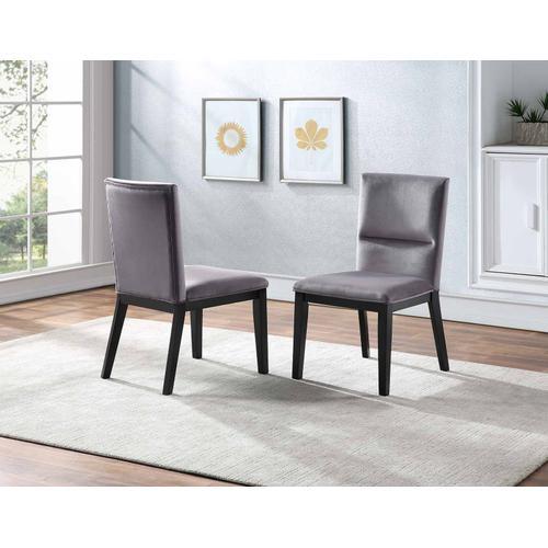 Gallery - Amalie Side Chair, Grey Velvet