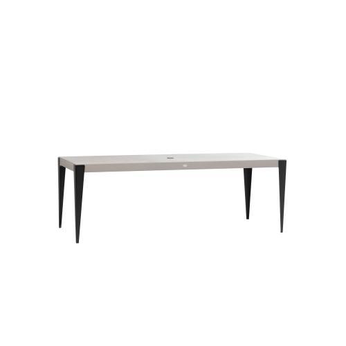 "Genval 84.5"" x 38"" Rectangular Dining Table w/Umbrella Hole"