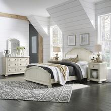 Chambre Queen Bed, Nightstand and Dresser With Mirror