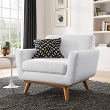 See Details - Engage Upholstered Fabric Armchair in White