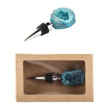 Bottle Stopper,Turquoise Geode