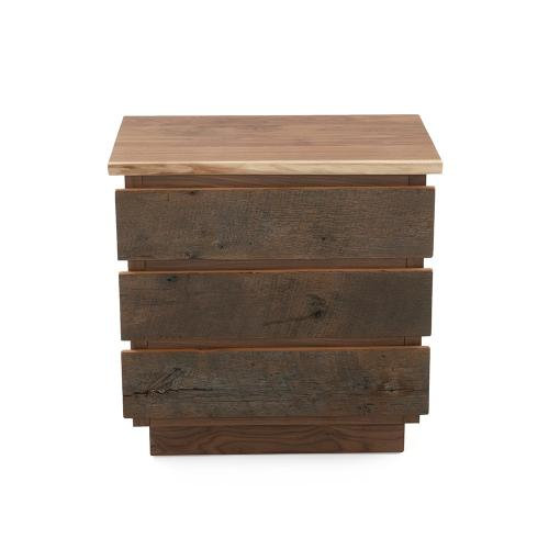 Hillsboro 5 Drawer Chest (barnwood or Walnut Option) - (walnut Drawer Fronts)
