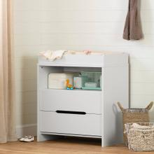 2-Drawer Changing Table - Pure White