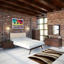 See Details - Tracy 5 Piece Queen Bedroom Set in Cappuccino Beige