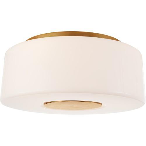Visual Comfort BBL4106SB-WG Barbara Barry Acme 3 Light 16 inch Soft Brass Flush Mount Ceiling Light, Large
