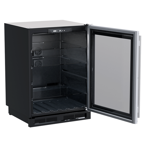 Marvel - 24-In Built-In High-Capacity Beverage Center with Door Style - Stainless Steel Frame Glass