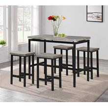 7818 5PC Metal Counter Height SET