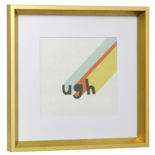 Style Craft - UGH  13in w X 13in ht  Framed Print Under Glass with Matte
