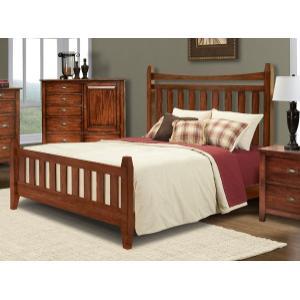 E King Slat Bed