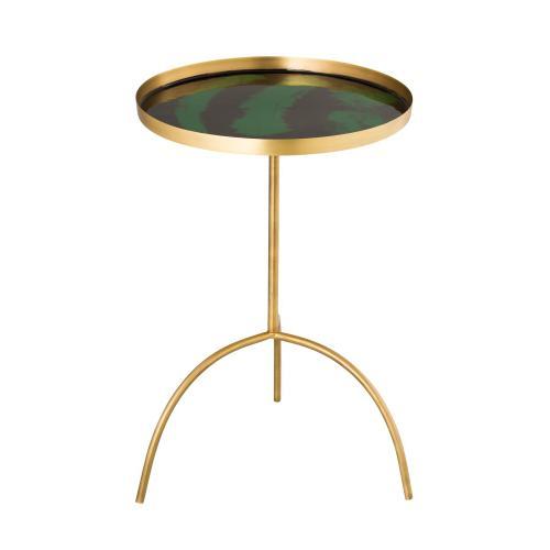 Tov Furniture - Enamel Black/Green Accent Table