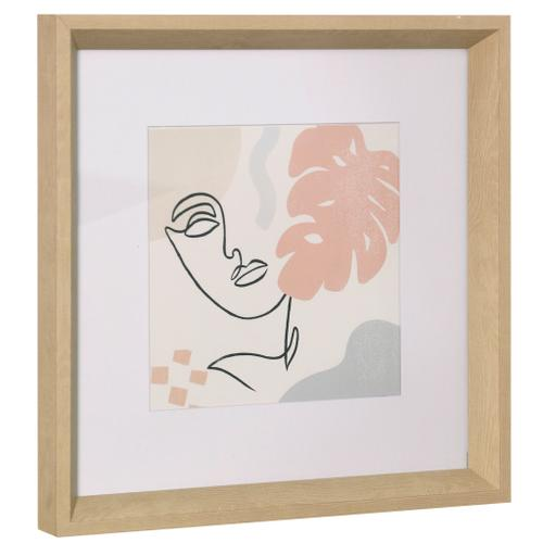Style Craft - THROUGH THE WINDOW I  14in ht X 14in w  Framed Print Under Glass