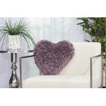 """Shag Tl001 Lavender 18"""" X 18"""" Throw Pillow"""