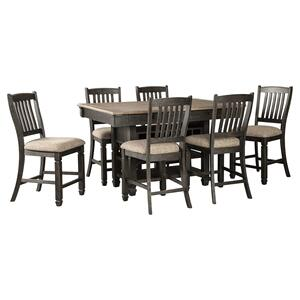 7 Piece Set (Pub Table and 6 Barstools)