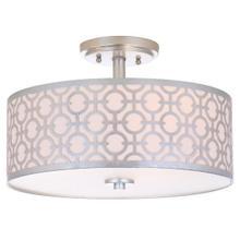 See Details - Vera 3 Light 15.5-INCH Dia Silver Flush Mount - Silver
