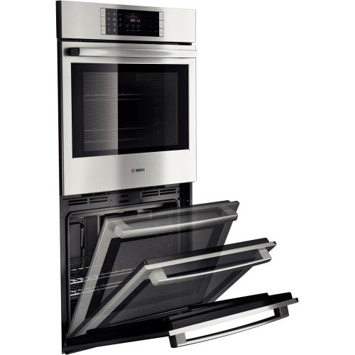 """Bosch - 30"""" Double Wall Oven Benchmark Series - Stainless Steel"""