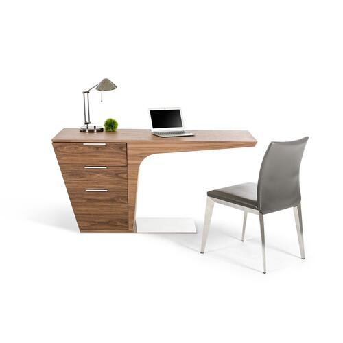 Modrest Bismarck Contemporary Walnut Desk