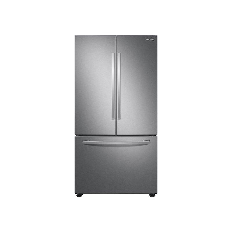 28 cu. ft. Large Capacity 3-Door French Door Refrigerator with Internal Water Dispenser in Stainless Steel