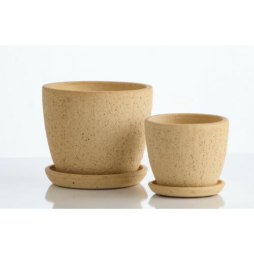 Alfresco Home - Mild Dot Petits Pot w/ attchd saucer, Set of 2 (Min 4 sets)