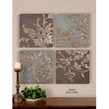 Damask Relief Blocks, S/4