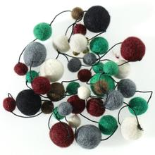 6' Grey Pom Pom Garland SALE