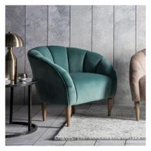 GA Tulip Chair Mint Velvet