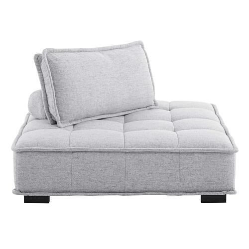 Modway - Saunter Tufted Fabric Armless Chair in Light Gray