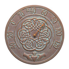 """See Details - Irish Blessings 12"""" Indoor Outdoor Wall Thermometer - Copper Vedigris"""