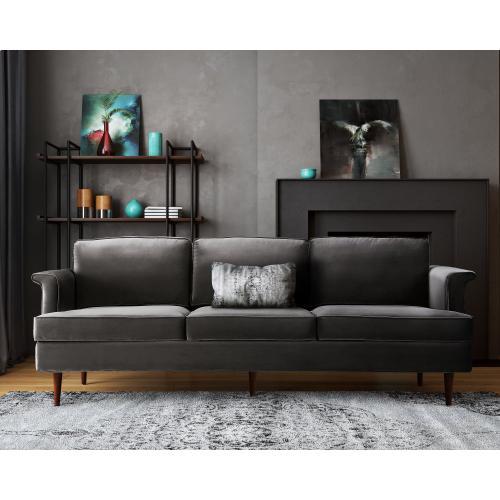 Tov Furniture - Porter Grey Velvet Sofa