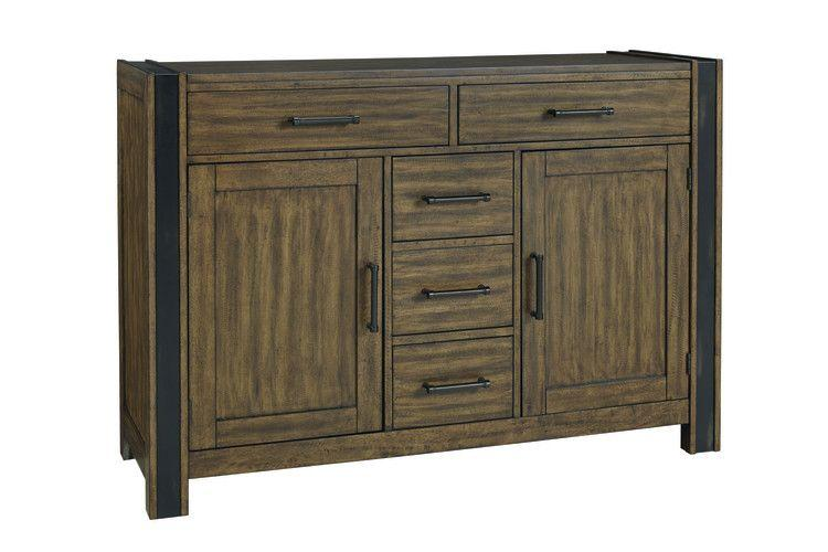 Nelson Sideboard Buffet, Rustic Pine Brown