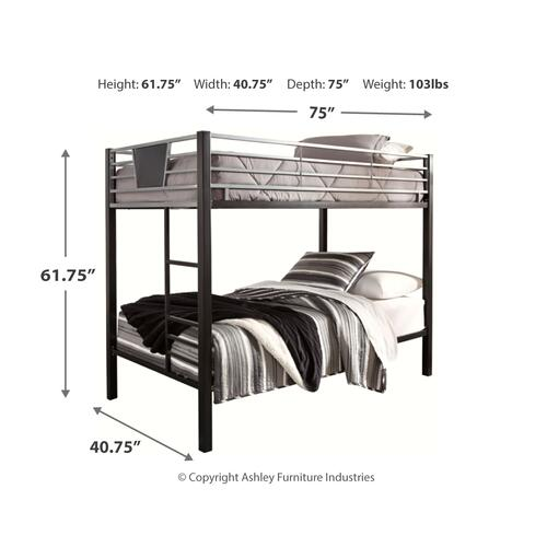 Product Image - Dinsmore Twin Over Twin Bunk Bed With Ladder