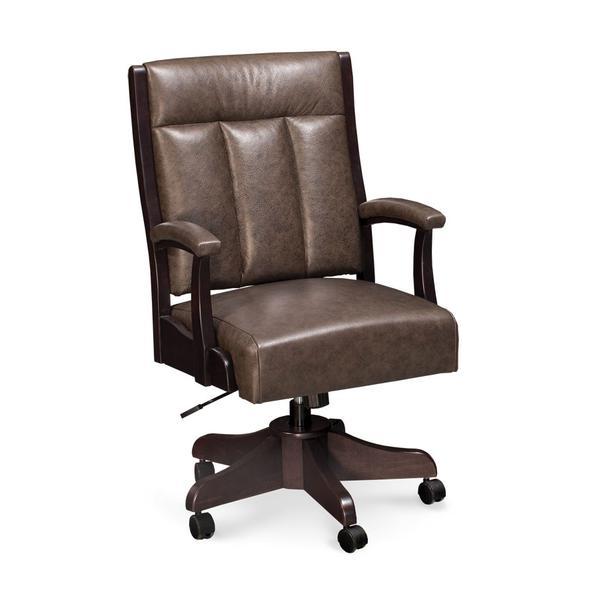 Buckingham Arm Desk Chair, Fabric Seat