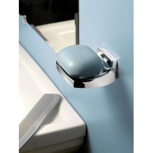 Contemporary chrome toothbrush holder - wallmount