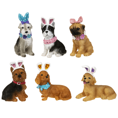 Easter Dogs Figurines (was EA15810) (12 pc. ppk.)