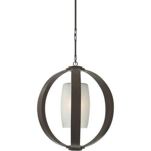 Visual Comfort CHC2531AI E. F. Chapman Metal Banded 1 Light 30 inch Aged Iron Pendant Ceiling Light