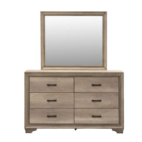 King California Uphosltered Bed, Dresser & Mirror, Chest, NS