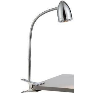 LED Clip-on Lamp, Chrome, Type LED Bulb 5w