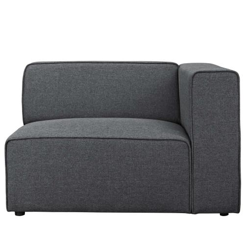 Modway - Mingle Fabric Right-Facing Sofa in Gray