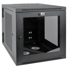 See Details - SmartRack 12U Server-Depth Wall-Mount Small Rack Enclosure, Clear Acrylic Window, Hinged Back