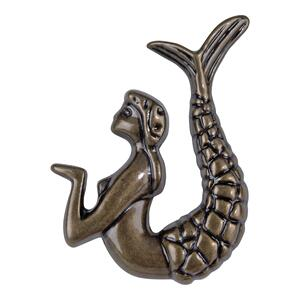 Mermaid Knob Right 2 1/2 Inch - Burnished Bronze Product Image